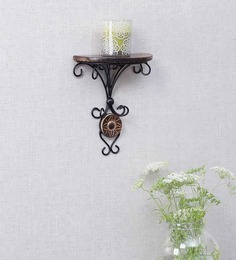 Onlineshoppee Brown Mango Wood Wall Bracket - 1344743