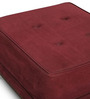 One Seater Cube Seat in Dark Maroon Colour by FurnitureTech
