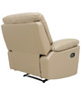 One Seater Recliner Sofa in Half Leather Taupe Colour by Star India