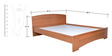 Optima Queen Bed in Natural Teak Finish by Zuari