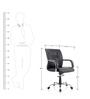 Opal Medium Back Ergonomic Chair in Black Colour by Oblique