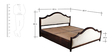 Oregon Queen Bed with Storage in Passion Mahogany Finish by Amberville