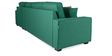 Oritz LHS Three Seater Sofa with Lounger and Cushions in Jade Colour by CasaCraft