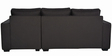 Oritz LHS Two Seater Sofa with Lounger and Throw Cushions in Charcoal Grey Colour by CasaCraft