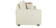 Oritz Two Seater Sofa with Throw Cushions in Pale Taupe Colour by CasaCraft