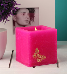 Orlando's Decor Candles Pink Butterfly Luminary Candle