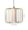 Orange Tree Gold Iron Merriam Hanging Lamp
