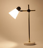 Orange Tree White Marble & Brass Kave Study Table Lamp