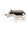 Orange Tree Silver Aluminium Rhino Table Decor