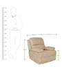 Oriel One Seater Recliner in Beige Colour by @home