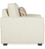 Oritz One Seater Sofa with Throw Cushions in Pale Taupe Colour by CasaCraft