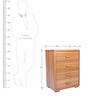 Orlando Chest of Four Drawers in Teak Brown Colour by Lalco Interiors