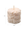 Orlando's Decor Candle White Carved Pillar Candle