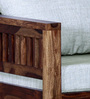 Orting Single Seater Sofa in Provincial Teak Finish by Woodsworth