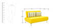 Oscar Two Seater Sofa in Yellow Colour by Furnitech
