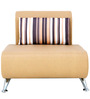 Oscar One Seater Sofa in Beige Colour by Furnitech