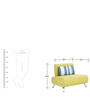Oscar One Seater Sofa in Lime Colour by Furnitech