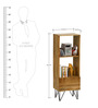 Oslo Solid Wood Compact Bookshelf in Natural Finish by TheArmchair
