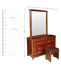 Othello Dressing Table in Brown Colour by Lalco Interiors
