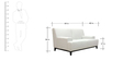 Palmira Two Seater Sofa in Pearl White Colour by CasaCraft