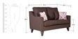 Ithaca Impulse Two Seater Sofa in Chestnut Brown Colour by Urban Living