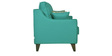 Ithaca Impulse Two Seater Sofa with Throw Cushions in Jade Colour by Urban Living
