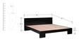 Blaine King Size Bed in Espresso Walnut Finish by Woodsworth