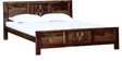 Wyoming King Bed in Provincial Teak Finish by Woodsworth