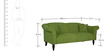 Paulina Three Seater Sofa in Fern Green Colour by CasaCraft