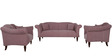 Paulina Three Seater Sofa in Salmon Pink Colour by CasaCraft