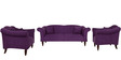 Paulina Three Seater Sofa in Mulberry Colour by CasaCraft