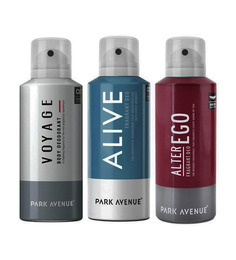Park Avenue Voyage, Alive, & Alter Ego Deodorant Pack of 3 - 150 mL each