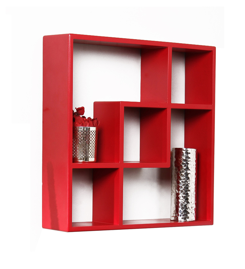 Buy Panama Contemporary Wall Shelf In Red By Casacraft