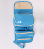 Packnbuy Nylon Blue Hanging Travel Toiletry Bag Kit with Detachable Pouch