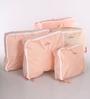 Packnbuy Nylon Peach 5 in 1 Travelling Bag Set