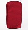 Packnbuy Fabric Red Long Travel Passport Organiser