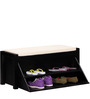 Elkhorn Shoe Rack with Seating in Espresso Walnut Finish by Woodsworth