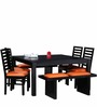Winona Eight Seater Dining Set in Espresso Walnut Finish by Woodsworth