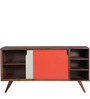 Denali Sliding Door Sideboard in Provincial Teak Finish by Woodsworth