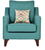 Ithaca Impulse One Seater Sofa with Throw Cushions in Jade Colour by Urban Living