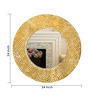 Cher Decorative Mirrors in Gold by Bohemiana
