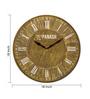 Panash Art Multicolour Wood & Ply 18 Inch Round Designer Wall Clock
