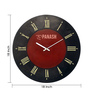 Panash Art Multicolour Wood & Ply 18 Inch Round Designer Wall Clock