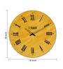 Panash Art Yellow Wood & Ply 18 Inch Round Designer Wall Clock
