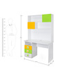 Panda Study Table in Yellow, Green & White Colour by Alex Daisy