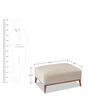 Park Ottoman in Beige Colour by Durian