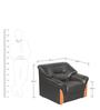 Parto One Seater Sofa in Black Colour by Godrej Interio