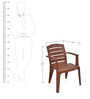 Passion Garden Chair in Mango Wood Colour by Nilkamal