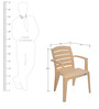Passion Visitor Chair in Beige Colour by Nilkamal