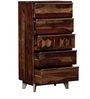 Wyoming Chest of FiveDrawers in Provincial Teak Finish by Woodsworth